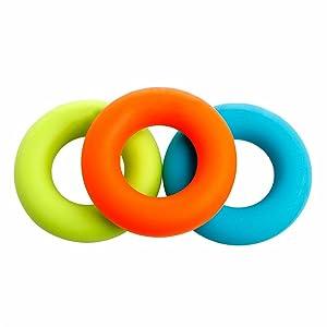 30-50lbs:Green, 30lb, Blue, 40lb, Orange 50lb.