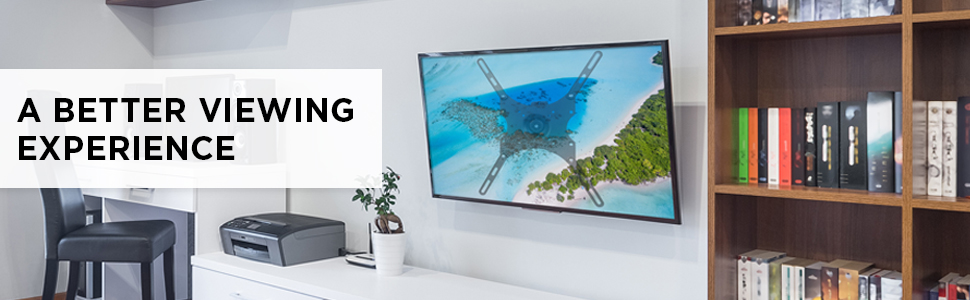Mount-It! Locking TV Wall Mount, Full Motion TV Mount Anti-Theft Lockable Quick Release VESA Head