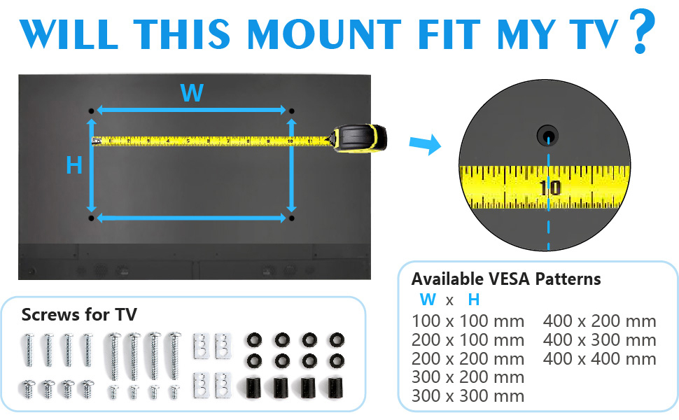 mobile tv stand with vesa mount