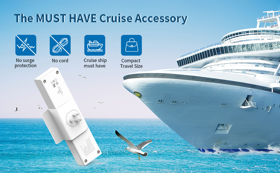 Cruise Power Bar with 3 USB 3 Outlets - NTONPOWER Travel USB Charging  Station with Stand, Cube Tap Power Outlet Extender Adapter, Non Surge  Protection