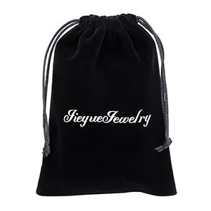Velvet gift bag with our logo on it