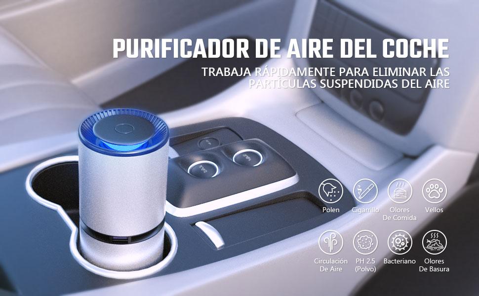 HOMPO Portátil Purificador de Aire - Filtro de Aire Ionizador ...