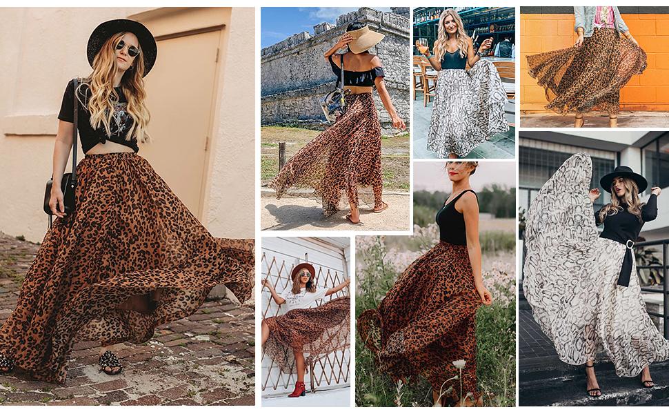 chiffon skirts for women