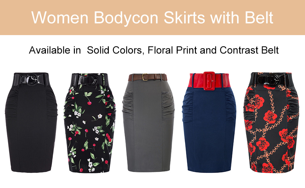 bodycon kirts with belt