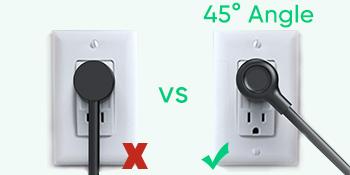 45° flat plug