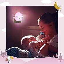 veilleuses bebe // veilleuse bébé // veilleuse enfants // lampe de chevet enfant // lampe bebe