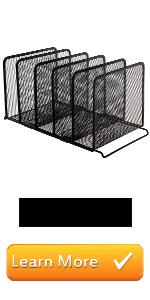 black metal mesh document magazine file folder desktop sorter organizer storage rack office supplies