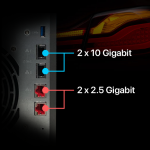 Smallest Enterprise Intel 10-Gigabit NAS.
