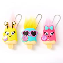 Claire's pucker pops collection, lip glosses, unique designs, colorful, cute gifts for girls