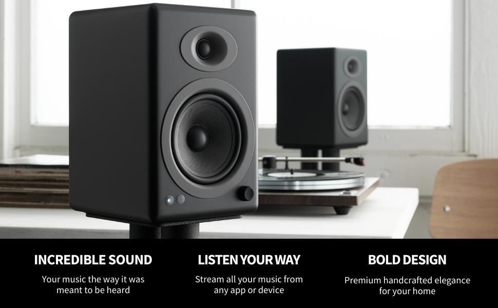 audioengine a5, a5 speakers, powered speakers, speakers for turntable, audioengine speakers, a5+