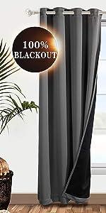100% grommet blackout curtains