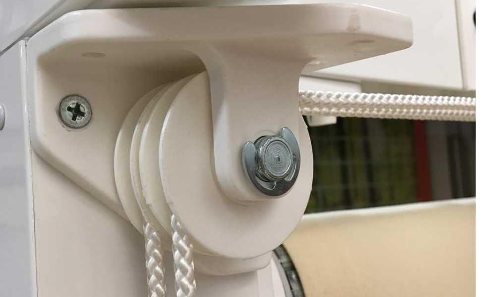 Teletoldo Polea Doble Lateral para Cuerda de pérgola (Blanco): Amazon.es: Jardín