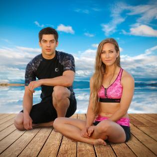 Aqua Design Women's and Men's Outdoor Activewear Rash Guard Swim Apparel Sun Protection