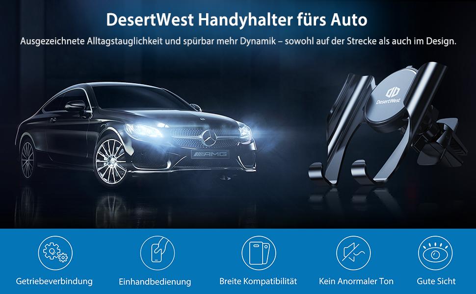 DesertWest Handyhalterung Auto Handyhalter fürs Auto
