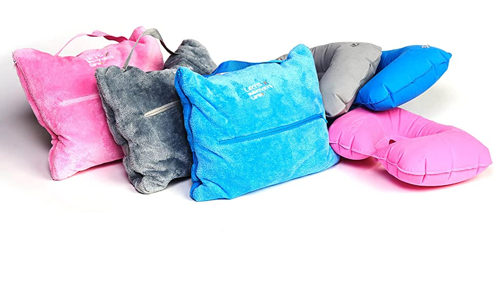 Airplane Car Travel Blanket Pillow Set Warm Plush All in One Plane Accessory