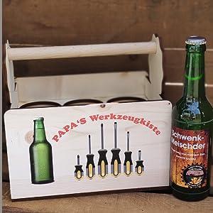 bierträger-holz holzträger flaschenträger-holz personalisierter-bierträger geschenk-papa vatertag