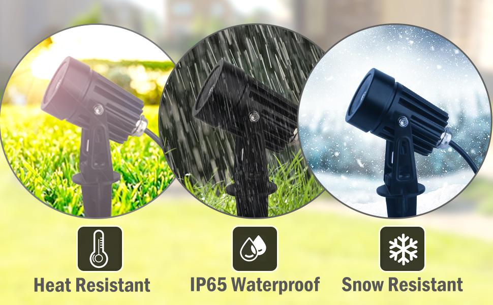 waterproof solar spotlight