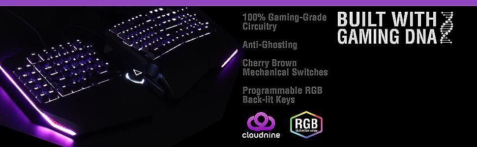 ergonomic gaming keyboard with macro rgb