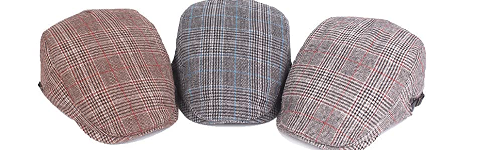 VINTAGE PLAID NEWSBOY HAT ARE NEVER OUT OF FASHION