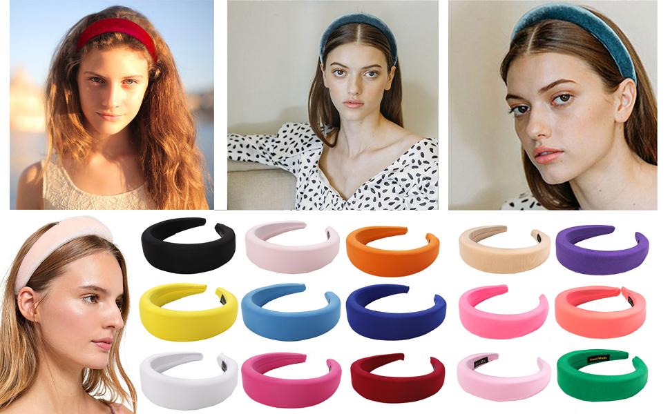 Velvet Sponge Thick Hairbands For Women Girls DIY Hair Accessories