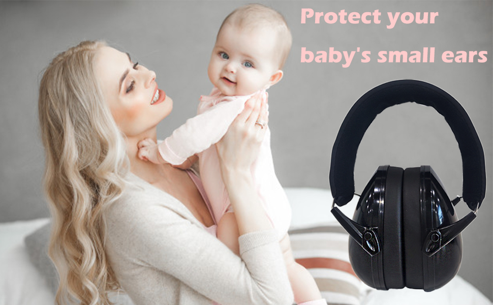 Syfinee Baby Ear Earmuffs Ear Protection Noise Cancelling Headphones Infant Hearing Protection Newborn Headphones Safety Ear Muffs Noise Reduction Soft Padded Adjustable for Ages 0-3 Years