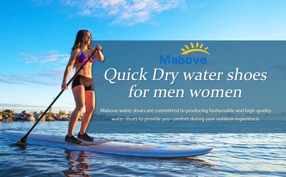 RQWEIN Men Women Water Sports Shoes Quick Dry Barefoot Aqua Socks Swim Shoes for Pool Beach Walking Running