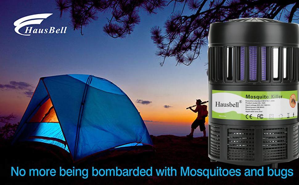 Hylotele Hogar Mosquito Killer Inhalaci/ón Mosquito Trampa L/ámpara Electr/ónica Mosquito Zapper LED Trampa L/ámpara Ventilador de succi/ón fuerte