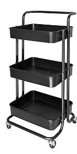 3 tier rolling cart