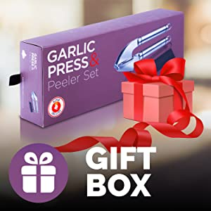 garlic press gift box