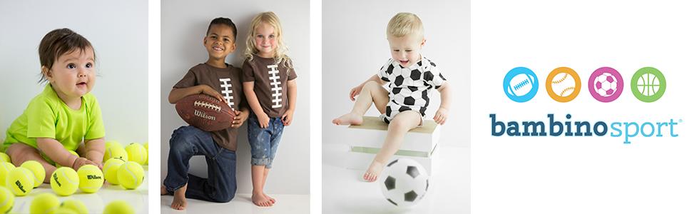 Bambino Sport baby clothes newborn sports clothing baseball basketball football soccer golf tennis