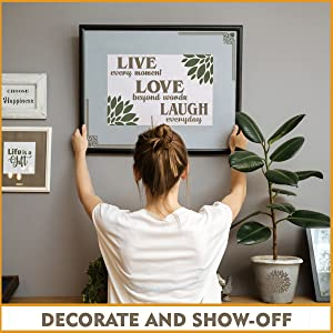 Home Decor Wall Hangings - Quote Decorations for Walls with Wall Stencils Quotes Living Room
