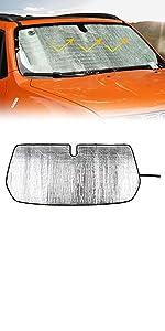 Windshield Sunshade Sun Shade Foldable Sun Visor Sunscreen for Jeep Renegade 16+