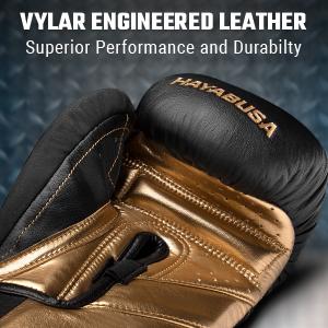 Open Palm of T3 Black Gold Hayabusa T3 Boxing Glove