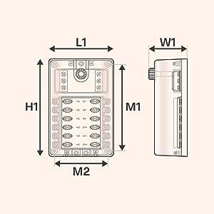 Amazon.com: 10 Way Fuse Block with Ground Negative Bus for Automotive [Dual  Positive Inputs] [12V - 32V DC] [200 Amp] [ATC/ATO Fuses] [LED Indicator]  [Corrosion Resistant] Auto Marine Fuse Box: AutomotiveAmazon.com