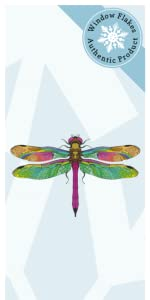 Dragonfly anti-collision window cling decal stickers