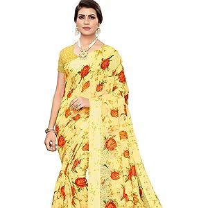Designer Banarsi Silk sari with rich pallu