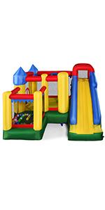 COSTWAY Castillo Hinchable con Tobogán para Niños 305x305x213cm ...