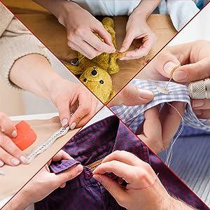 sewing thread kit, repair mending stitching starter kit