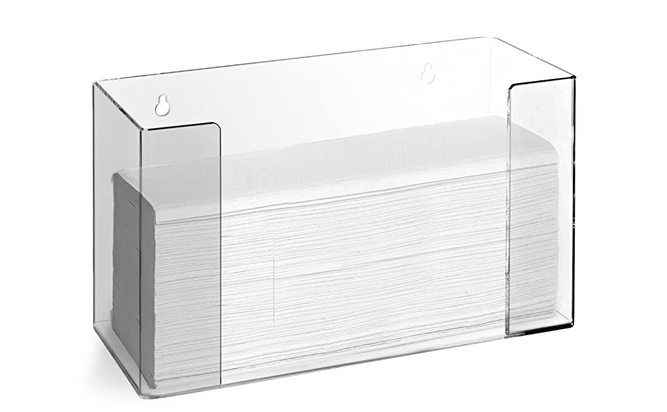 Acrylic Paper Towel Dispenser - Folded Paper Towel Holder for Countertop - Commercial Paper Towel