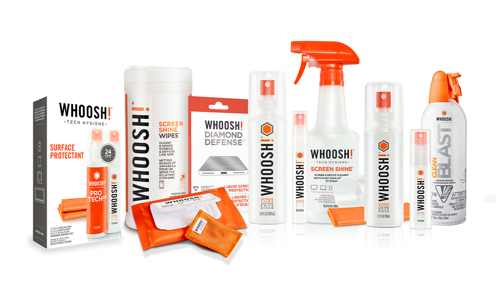 WHOOSH Tech Hygiene, Family Products