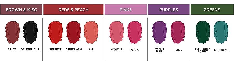 lipstick,lipstick collection, lipstick matte