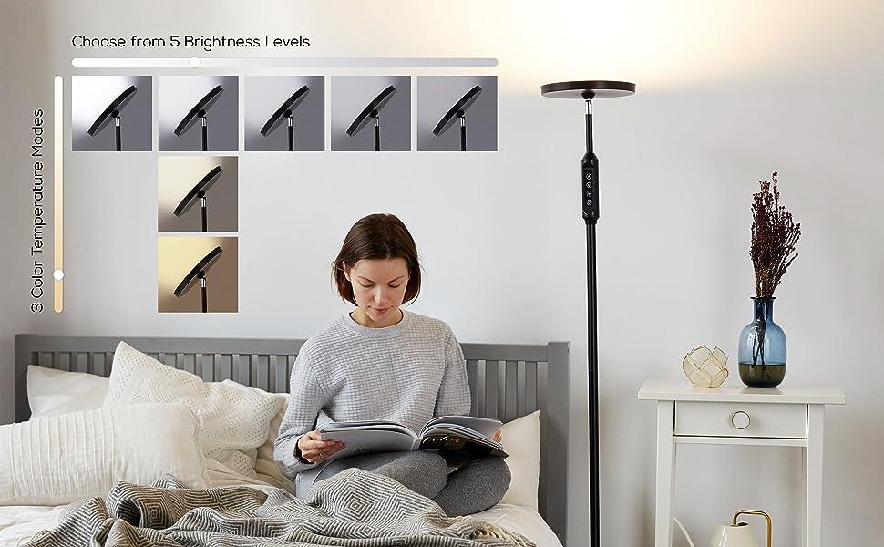 led lamps corner lamp standing lamps bedroom light for room dimmable modern floor lamp led