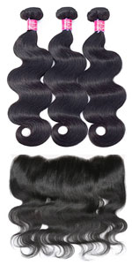 body wave bundles with frontal