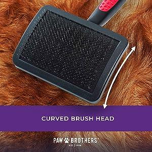 paw brothers slicker brush curved brush head