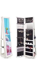 Jewelry Organizer Jewelry Cabinet 360 Rotating