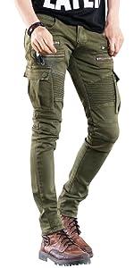 biker skinny jeans for men
