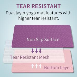 tear resistance yoga mat