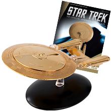EAGLEMOSS STAR TREK USS ENTERPRISE NCC-1701-D GOLD PLATED SPECIAL
