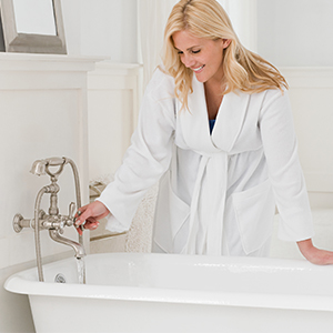full of vitality after home spa bathing enjoy