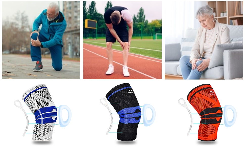 Knee Braces for Knee Pain - Knee Compression Sleeve for Men and Women,Knee Pads for Running